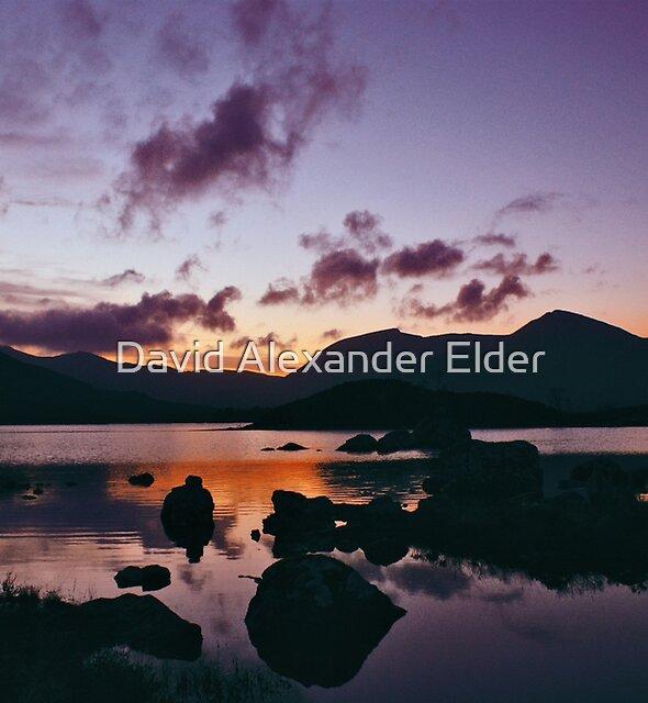 Twilight over Rannoch Moor and the Black Mount, Scotland by David Alexander Elder