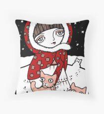 Lumi Kissat Throw Pillow