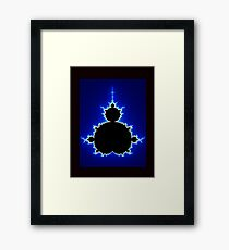 Mandelbrot Set - Blue Framed Print