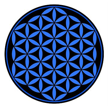 Flower of Life - Blue/Black by rescl