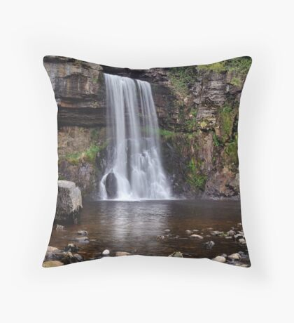 Thornton Force waterfall - The Yorkshire Dales Throw Pillow