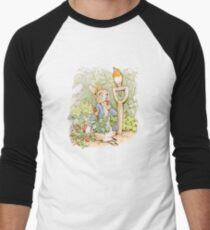 Peter Rabbit Steals Carrots Men's Baseball ¾ T-Shirt