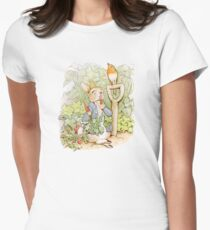 Peter Rabbit Steals Carrots Womens Fitted T-Shirt