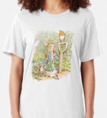 Peter Rabbit Steals Carrots Slim Fit T-Shirt