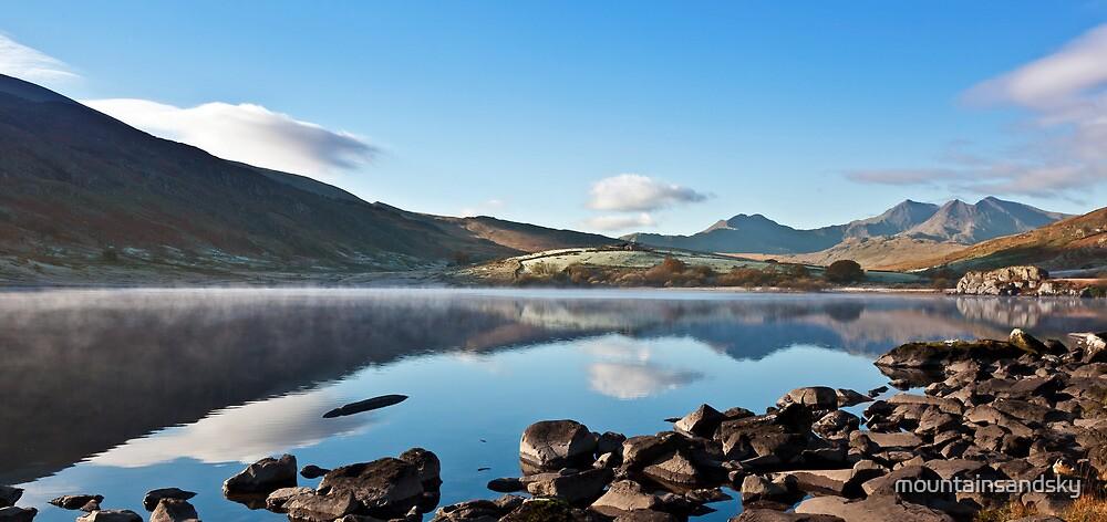 Snowdon from Llynnau Mymbyr by mountainsandsky