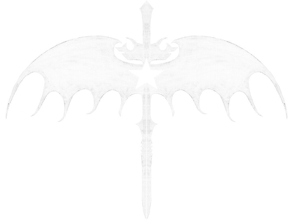 sword wing star white by walter jones