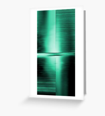 Shimmering Green Greeting Card