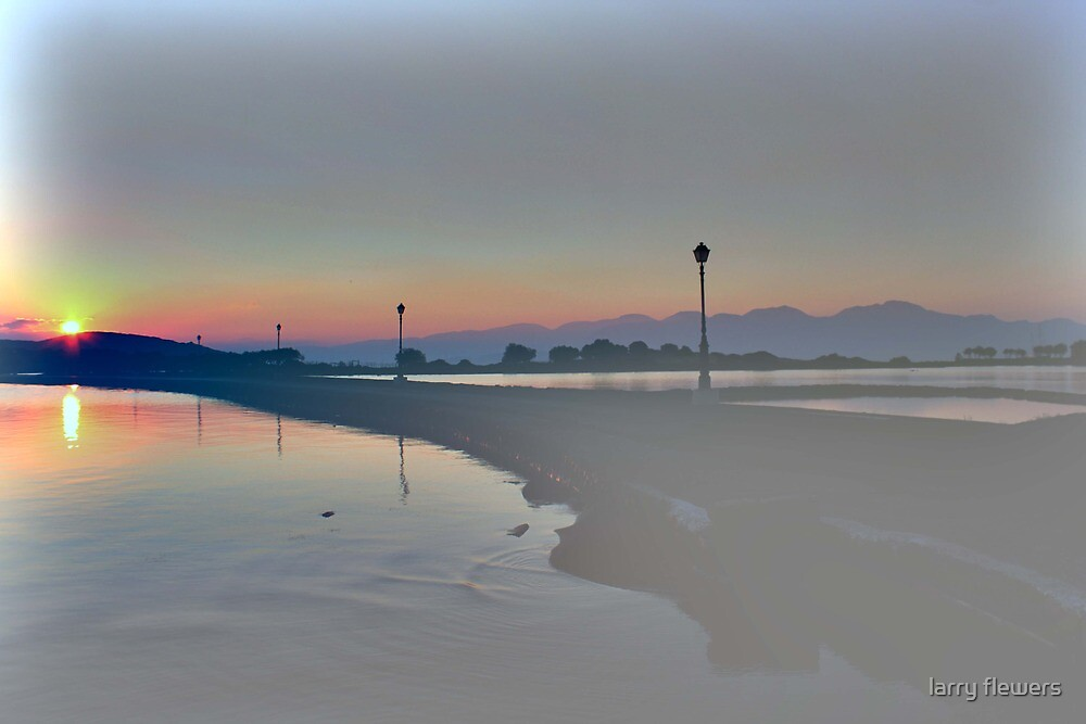 Misty morning  in Crete  by larry flewers
