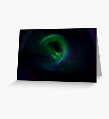 Green Flame Greeting Card
