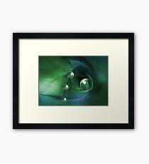 Green Pearls Framed Print