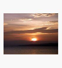 Inch Island November Sunset 3 Photographic Print