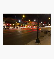 A busy night by Lincoln Square Photographic Print