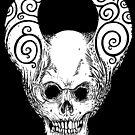 Horned Skull 001  by Erick Willand