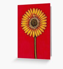 Single Yellow Gerbera Greeting Card