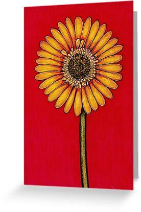 Single Yellow Gerbera by YouBeaut Designs