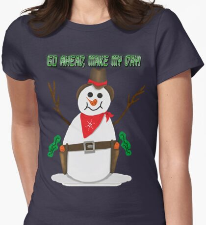 Cowboy Snowman T-Shirt