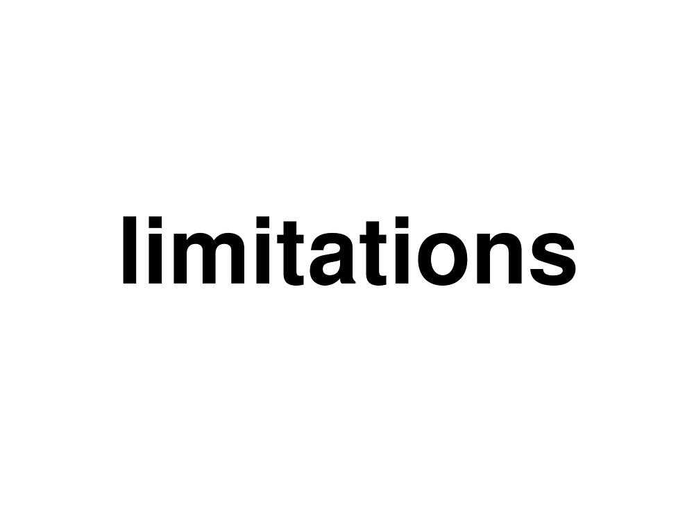 limitations by ninov94