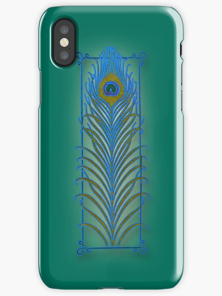 Peacock Feather iPhone4 Cover by Greenbaby