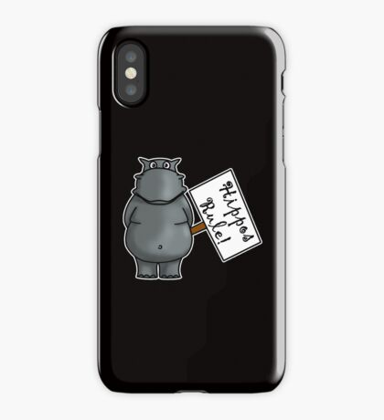 Hippos Rule iPhone Case/Skin