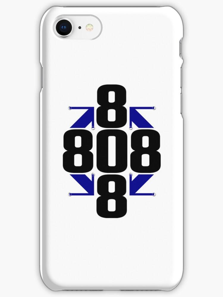 Blue Arrows IPhone Case by 808LTD