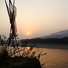 Bhutan as seen from the Indian side of the border. by John Mitchell