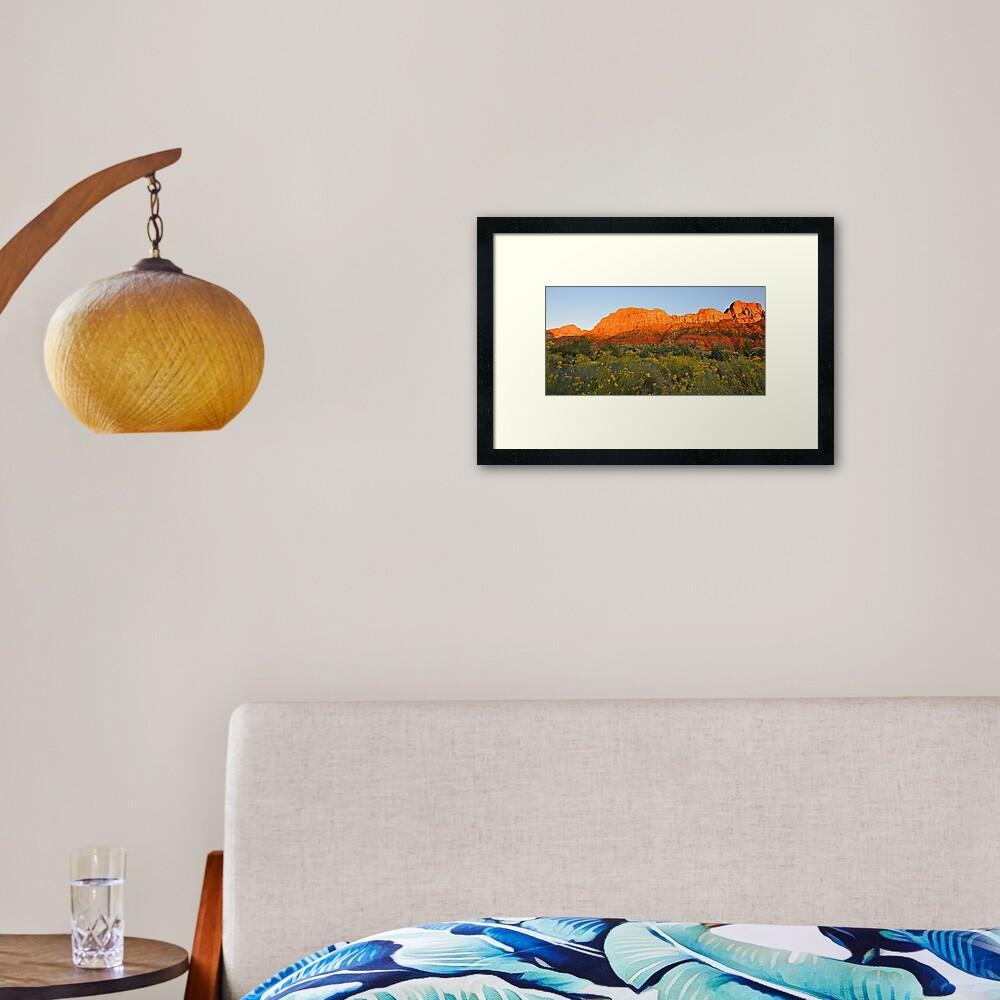 Snow Canyon State Park - Utah Framed Art Print