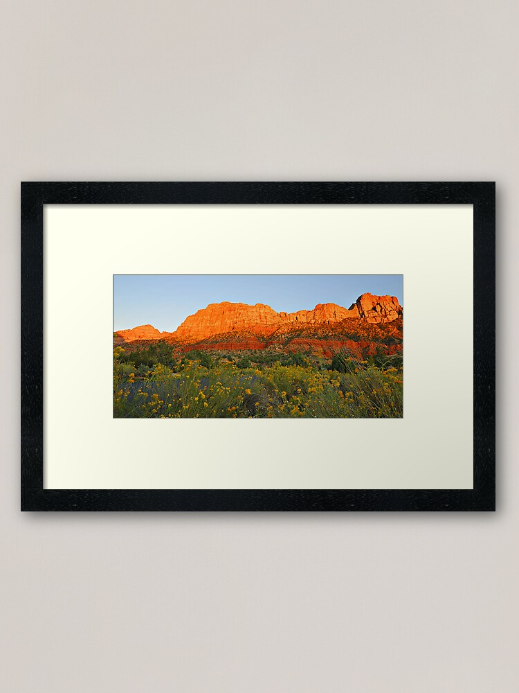 Alternate view of Snow Canyon State Park - Utah Framed Art Print