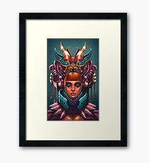 Rashah Queen Portrait Framed Print