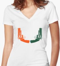 TheU Women's Fitted V-Neck T-Shirt