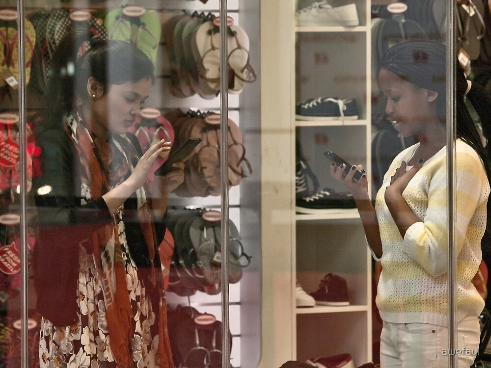 A moment in the shoe shop by awefaul