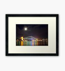 Sydney Harbour at Night Framed Print
