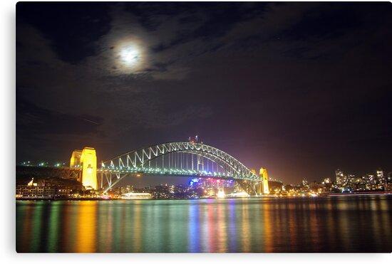 Sydney Harbour at Night by Andrejs Jaudzems