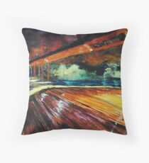 Le Pont (Bridge) Featured in Virtual Museum, Painters universe, Group Gallery -Art Photography Throw Pillow