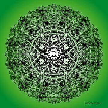 Mandala Drawing 30 GREEN Prints, Cards & Posters by mandala-jim