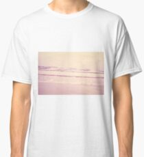 water ripples digitally manipulated beach close up  Classic T-Shirt
