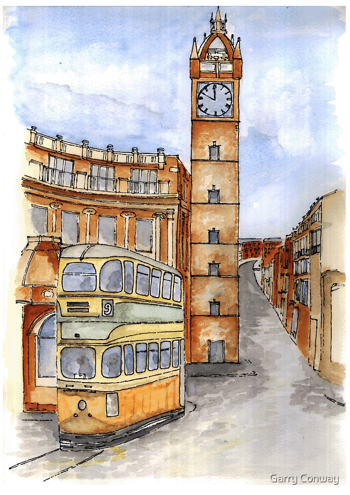 Tram At Glasgow Cross by Garry Conway