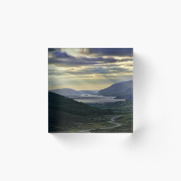 Looking West-To Loch Maree in the Highlands of Scotland(2) Acrylic Block