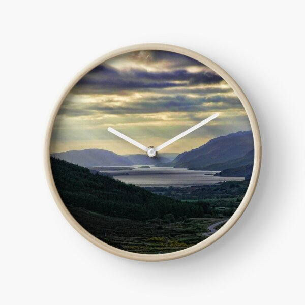 Looking West-To Loch Maree in the Highlands of Scotland(2) Clock