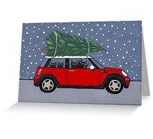 Red Mini Christmas Tree Greeting Card