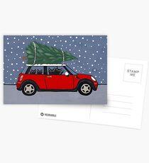 Red Mini Christmas Tree Postcards