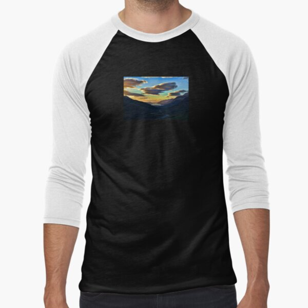Looking West to Loch Maree-Scotland Baseball ¾ Sleeve T-Shirt