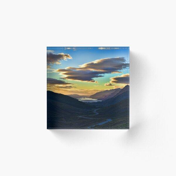 Looking West to Loch Maree-Scotland Acrylic Block
