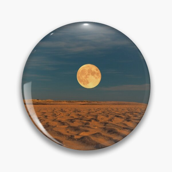 Moon across the Sands Pin