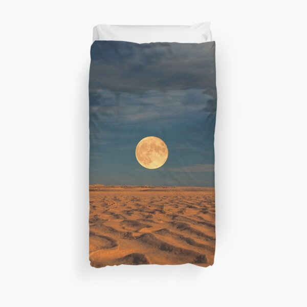 Moon across the Sands Duvet Cover