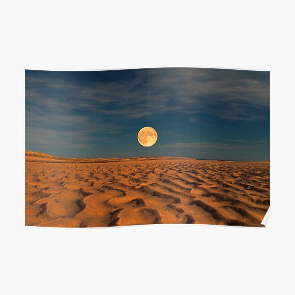 Moon across the Sands Poster