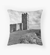Brentor Church - Devon - mono Throw Pillow