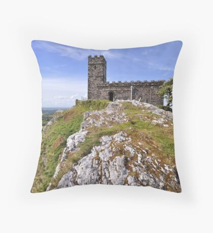 Brentor Church - Devon Throw Pillow