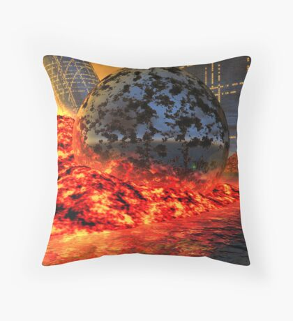 Fire and Steel - A Fantasy Throw Pillow
