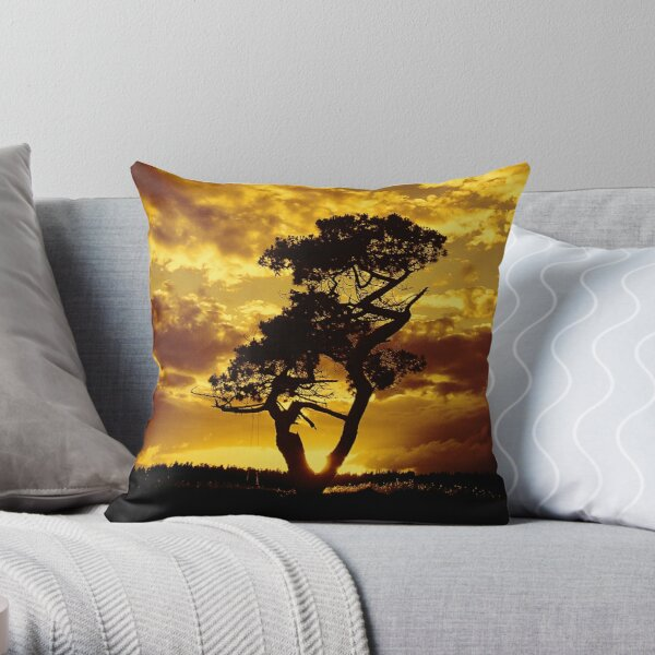 Tree Dance 2 Throw Pillow