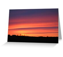Vibrant Sunset Greeting Card
